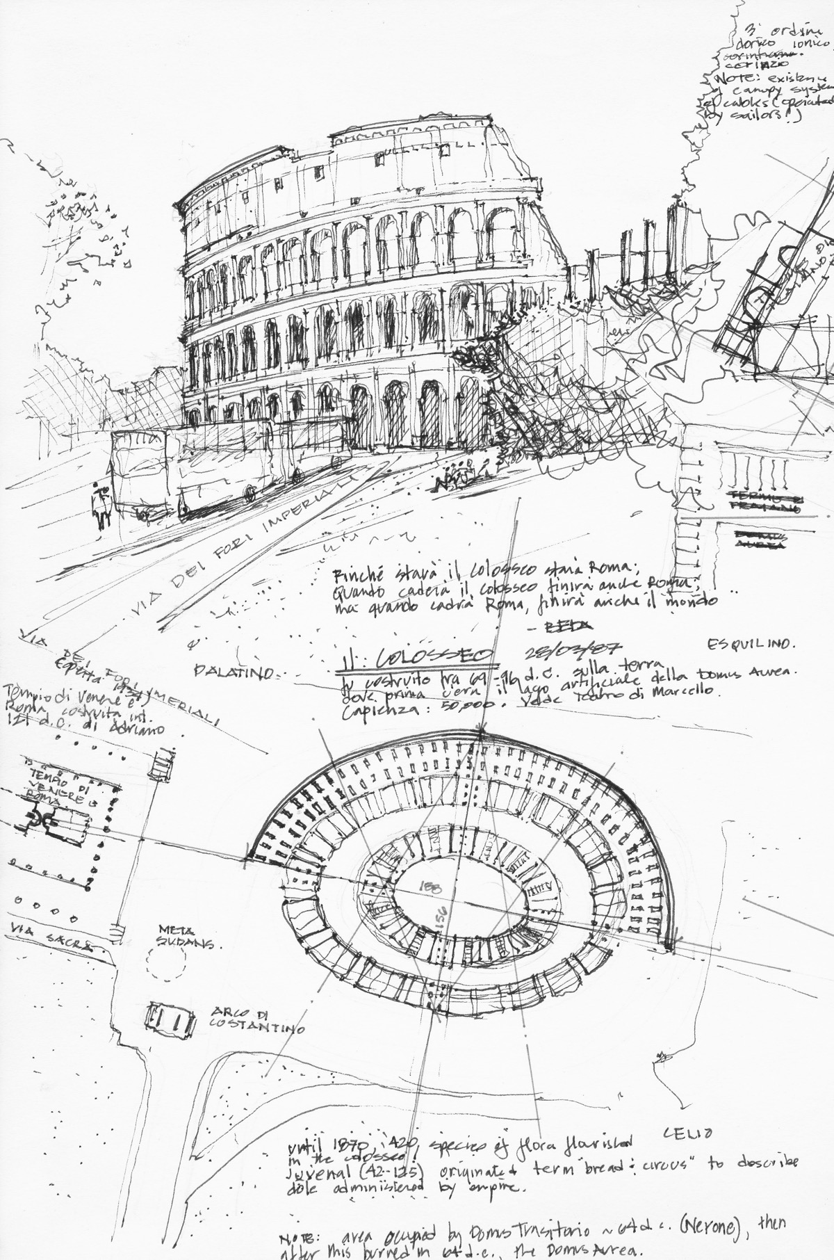 Author's sketch of Colosseum