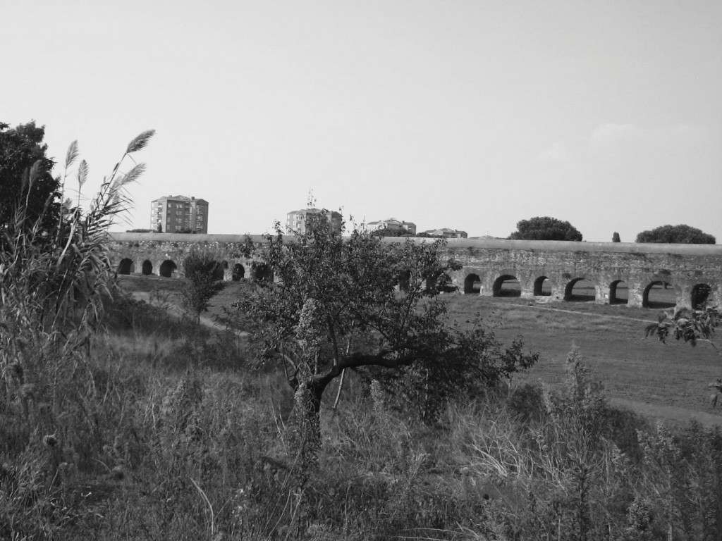 Rome's Aqueduct Park with INA-Casa housing where parts of Pasolini's Mamma Roma were filmed